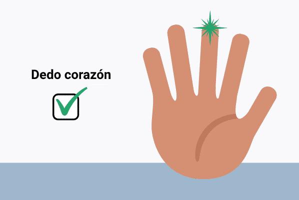 Mejor dedo para pulsioxímetro